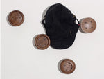 Button Shape Wall Knobs (Dark) - Button A - DForDecor