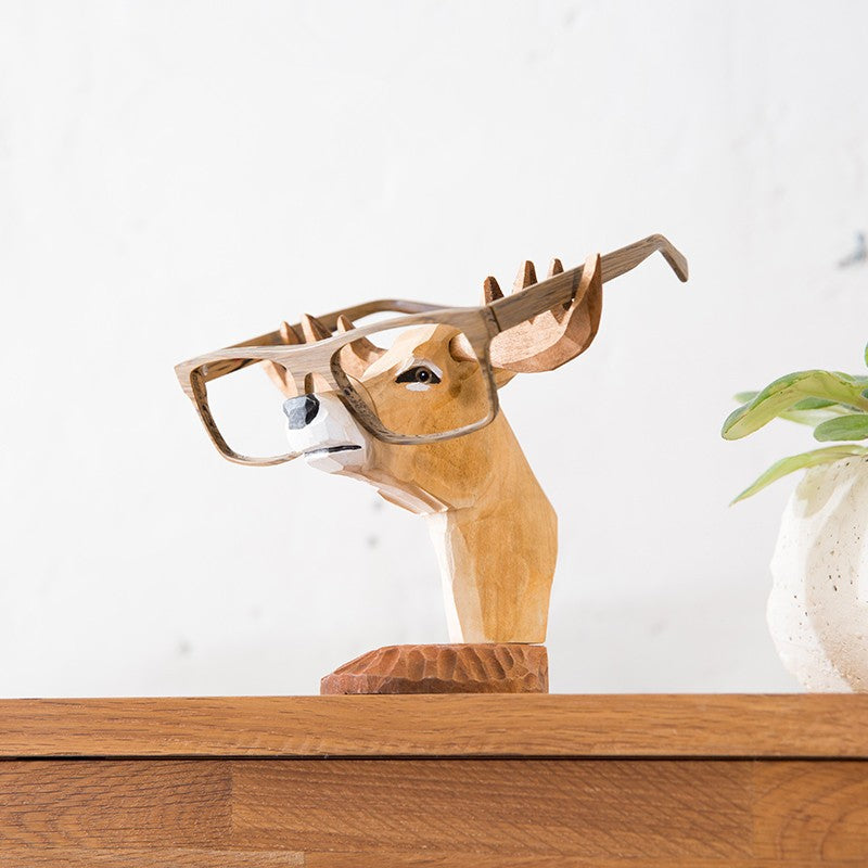 Hand-carved Wooden Glasses Stand - DForDecor