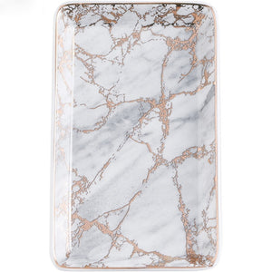 Marble Pattern Ceramics Tray