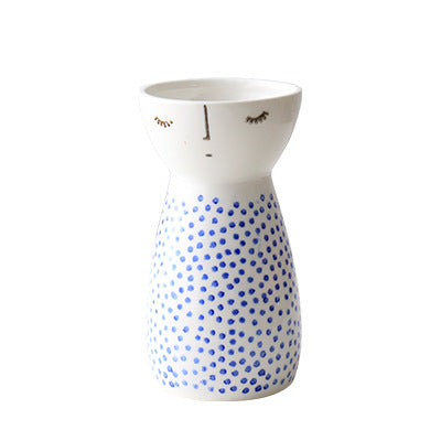 Doll Shape Ceramic Flower Vase