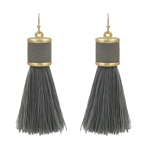 "Tinsley Tassel 2"" Earrings"