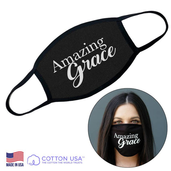 Spiritual Wording Face Mask 100% Cotton