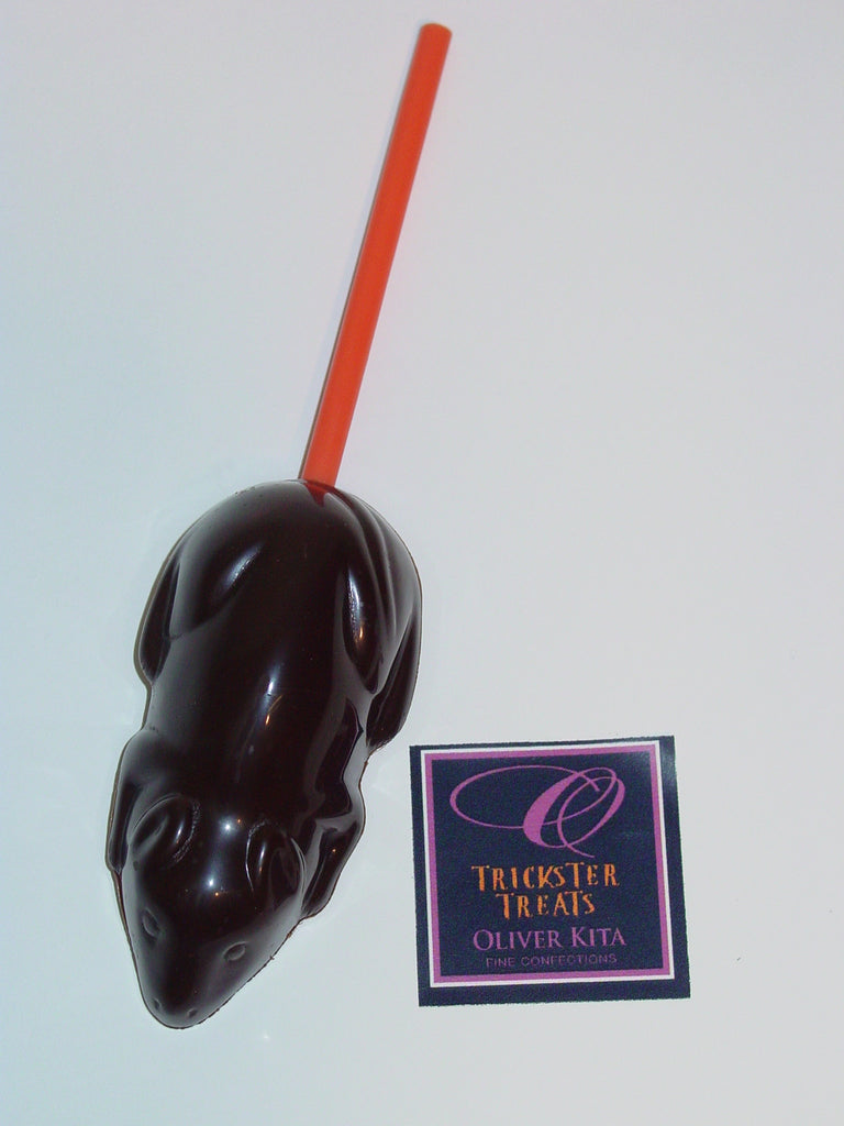 DIRTY RAT-   Dead Mouse on a stick w Vegan Chocolate
