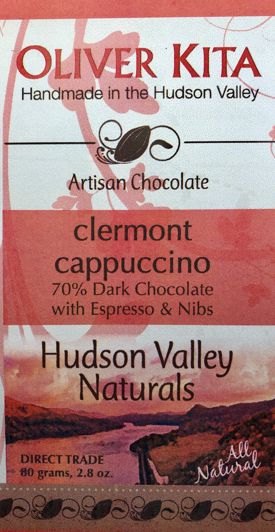 Clermont Cappuccino - All Natural Dark Chocolate 70%  cacao with Espresso