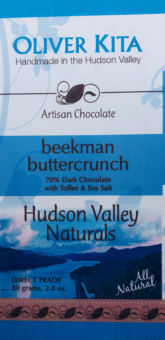 Beekman Buttercrunch - All Natural Dark Chocolate with Toffee & Sea Salt