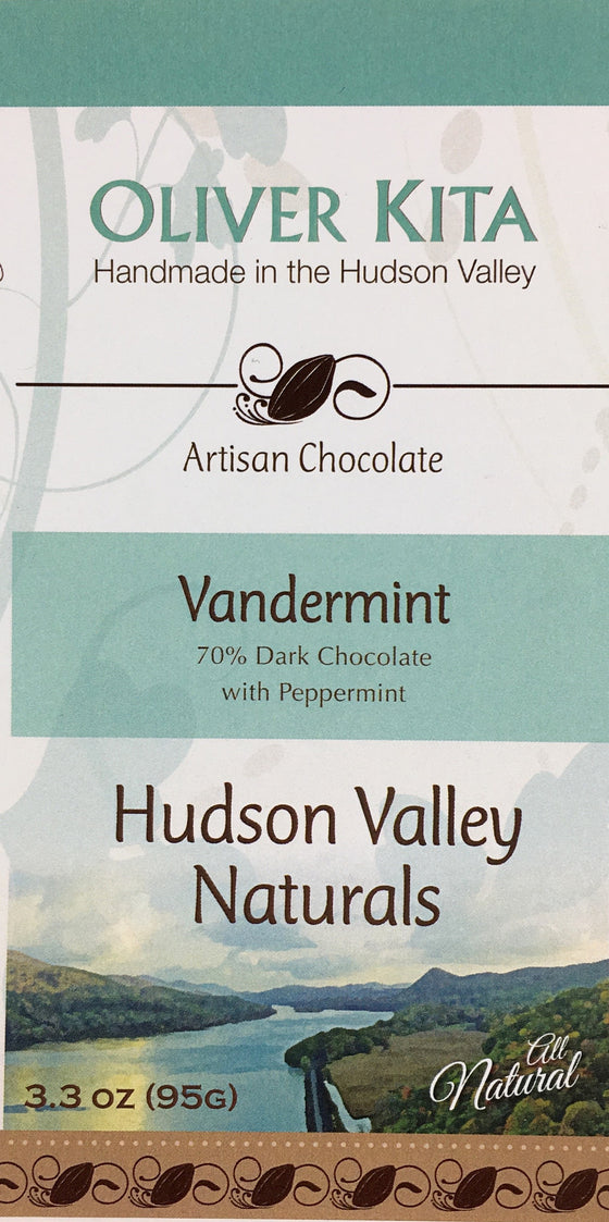 Vandermint - All Natural Dark Chocolate 70% with Peppermint