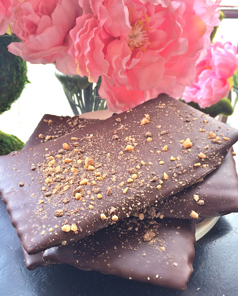 Passover Chocolate Dipped  Matzah