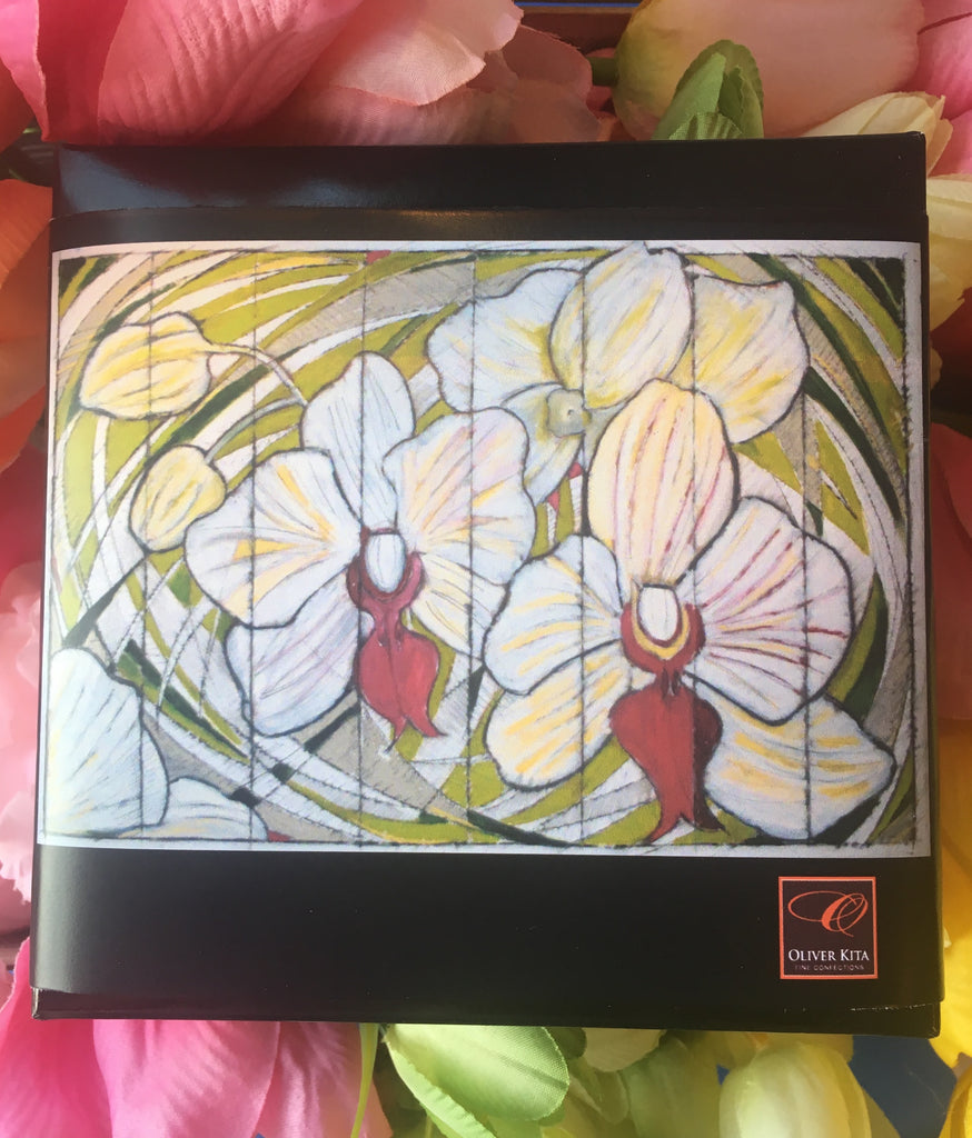 Mother's Day Floral Gift Box - Painting by Kim Bach (Orchid Trio)