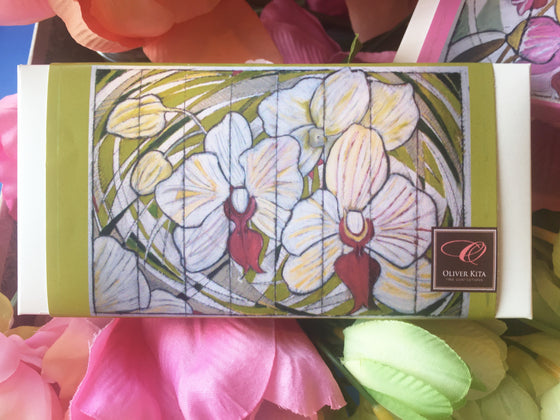 Orchid Painting - Delightfully Dark  - 70% Dark All Natural Bar