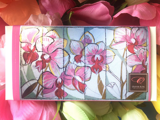 Orchid Painting by Kim Bach - Very Rich Milk Chocolate - 38% Organic Milk Bar