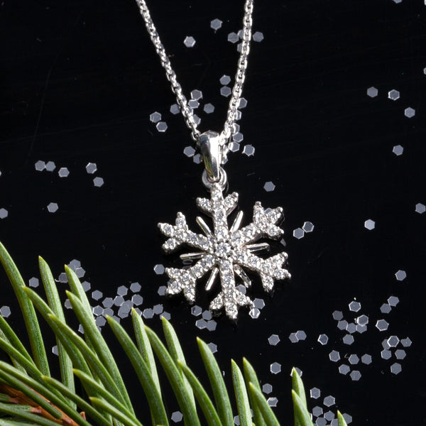 New Diamond Snowflake Necklaces - LET IT SNOW!