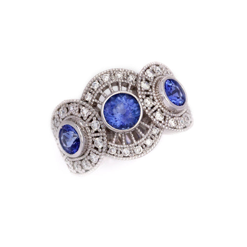 Diamond and Sapphire Ring 14K YG