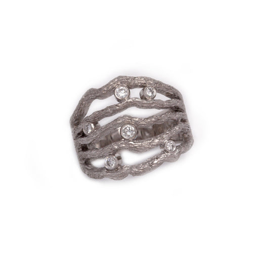 Diamond Branch Ring natural diamond jewelry