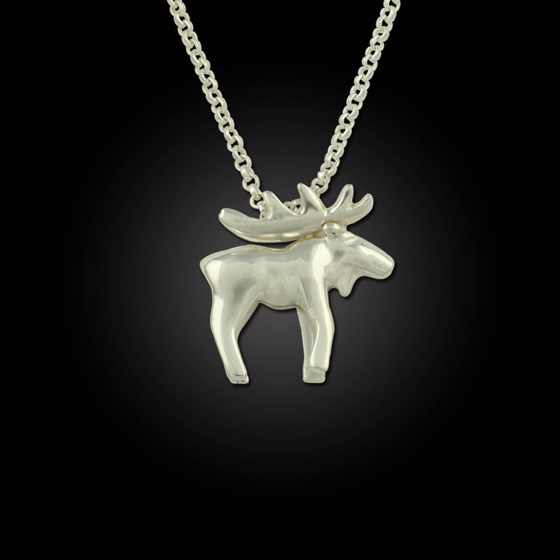 Moose Pendant Sterling Silver