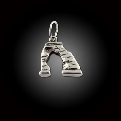 Delicate Arch Charm - Sterling Silver