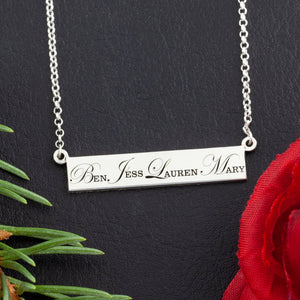 custom name necklace with cursive first letter