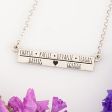 Load image into Gallery viewer, Mother's Name Necklace  with heart - Mom Necklace Family necklace