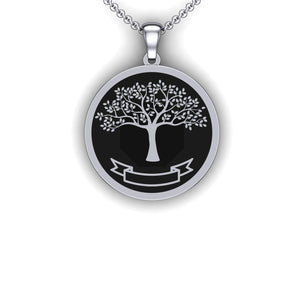 Family Tree Necklace - Full - Embossed