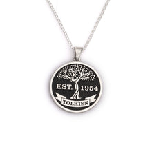 Load image into Gallery viewer, Embossed Family tree necklace with name and marriage date family tree necklace family jewelry