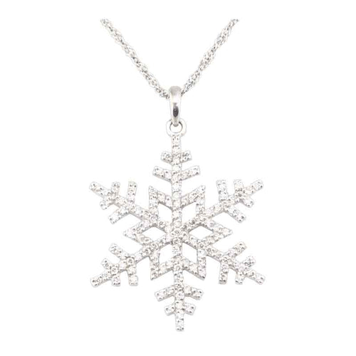 1/2 Ct Pave Diamond Snowflake 14K WG
