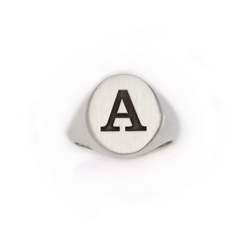 Initial Signet Ring  Initial Jewelry