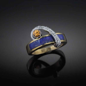 Lapis Spessartite Ring