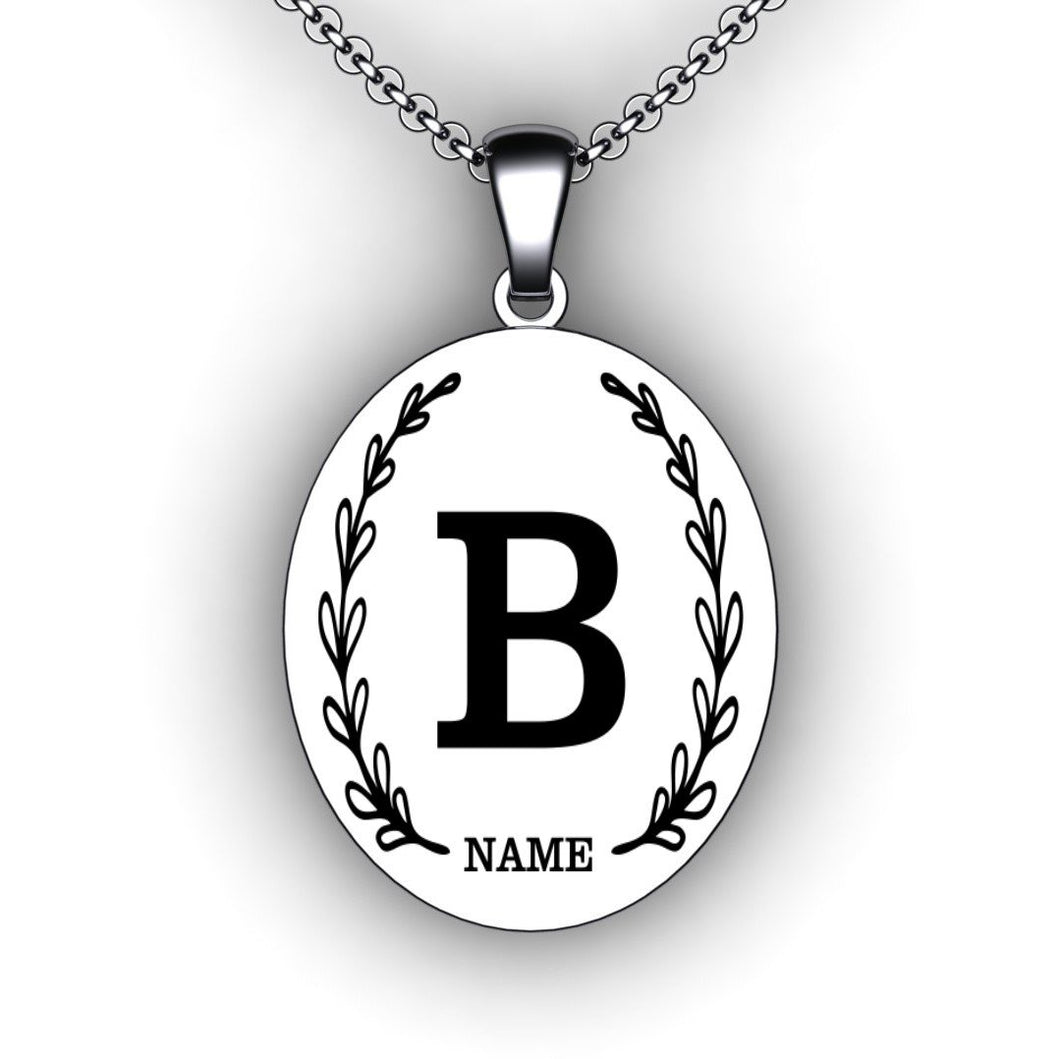 Initial Name Necklace Initial Jewelry