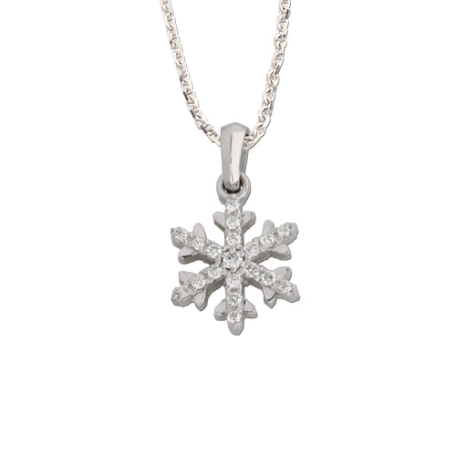 diamond snowflake .10 ctw diamonds - snowflake jewelry - Snow Jewelry