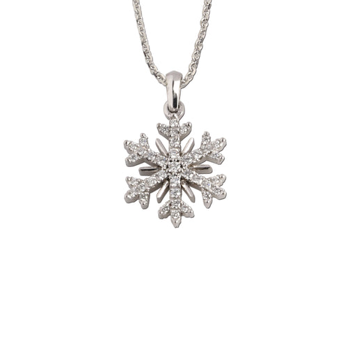 diamond snowflake .18 ctw diamonds - snowflake jewelry - Snow Jewelry
