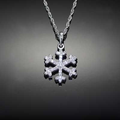 Small Diamond Pave Snowflake 14K WG diamonds