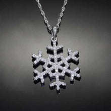 Load image into Gallery viewer, Diamond Pave Snowflake 14K WG diamonds