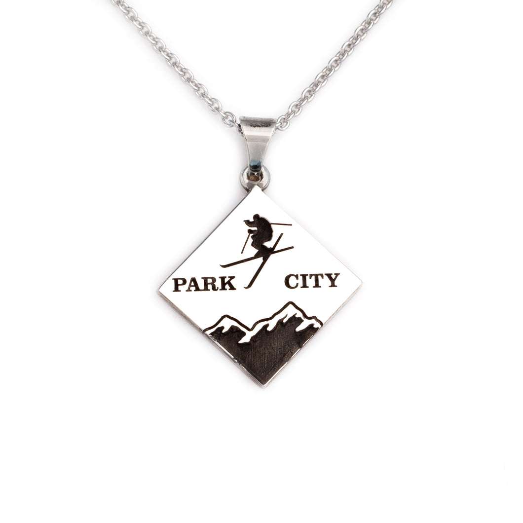 Mountain Skier Necklace