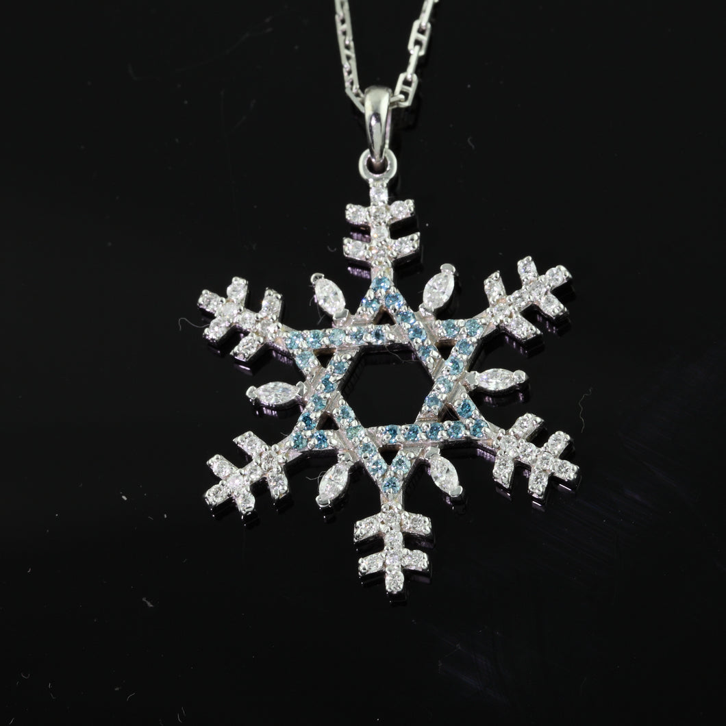 Star of David Diamond Snowflake 14K WG diamonds blue diamond