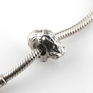 Buffalo/Bison Charm - Sterling Silver