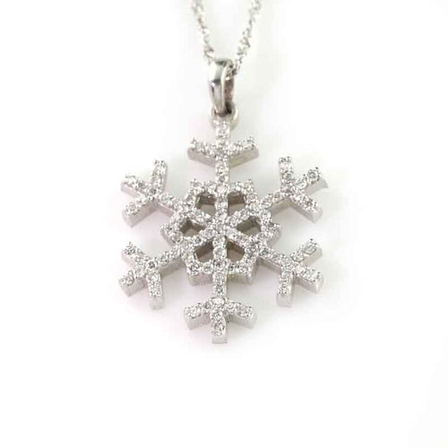 Diamond Pave Snowflake 14K WG diamonds
