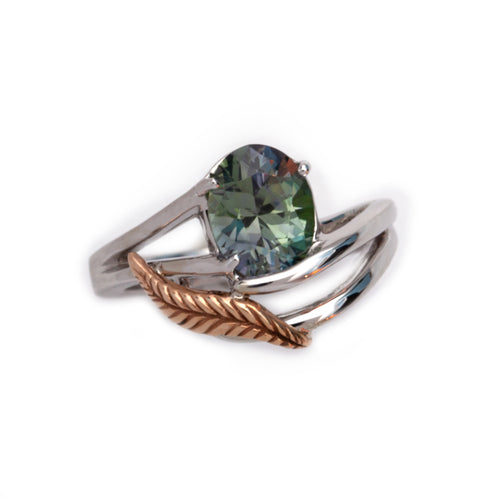 Zoisite Ring in 14K TT gold