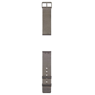 Strap. Gray steel Milanese Loop watch band.