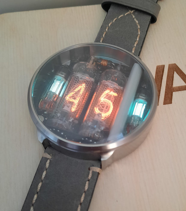 NIWA Nixie watch V 2.0 -Titanium raw case