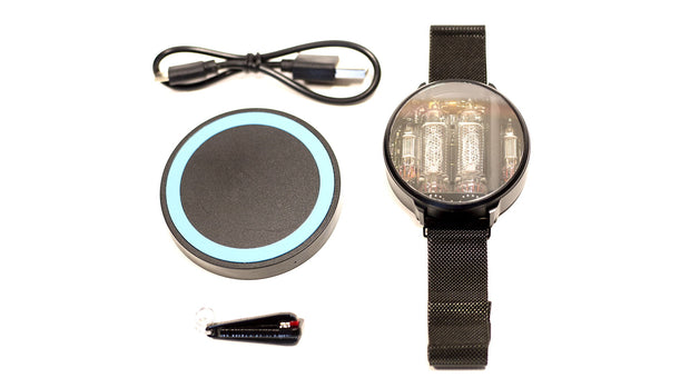 NIWA Nixie watch V 2.0 - Black stainless steel case.