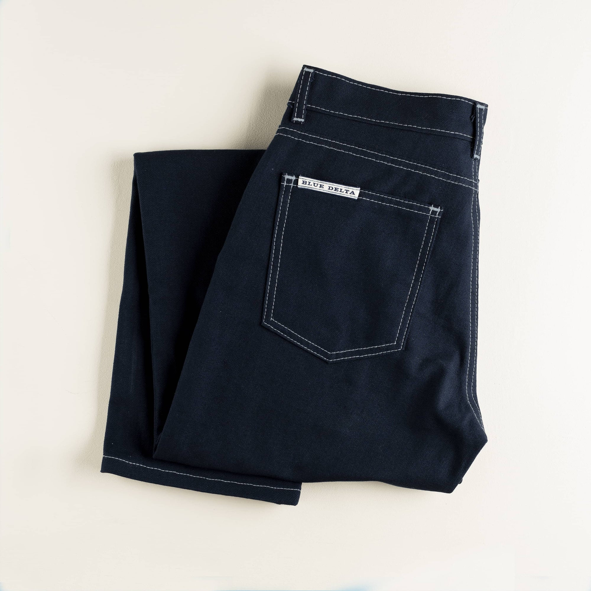 Navy Duck Canvas Pants