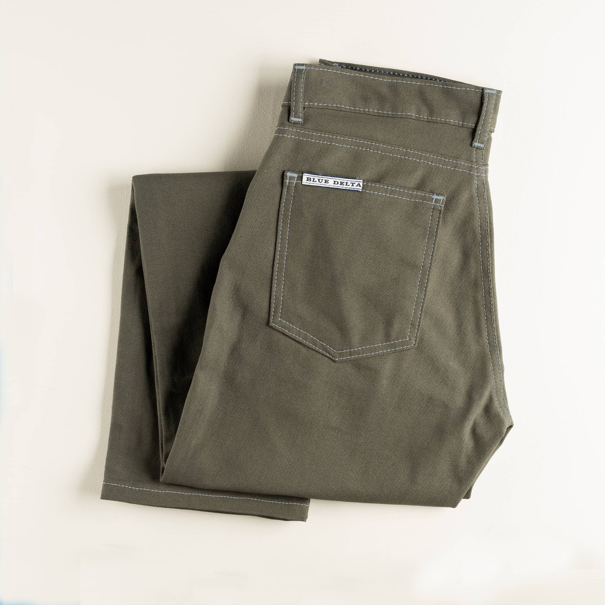 Green Duck Canvas Pants
