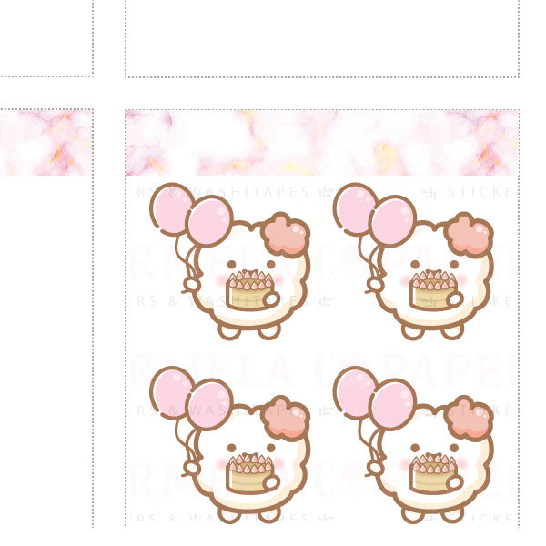 Birthday ♡ Cotton 2.0 Planner Stickers