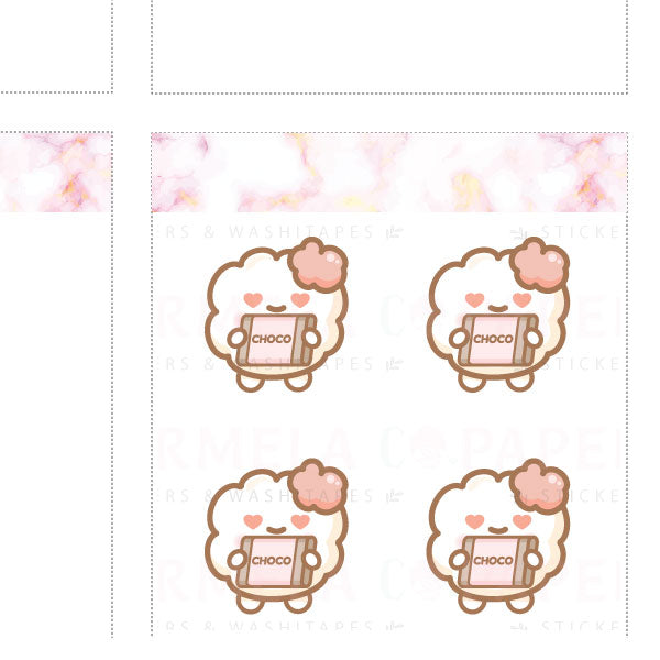 Chocolates ♡ Cotton 2.0 Planner Stickers