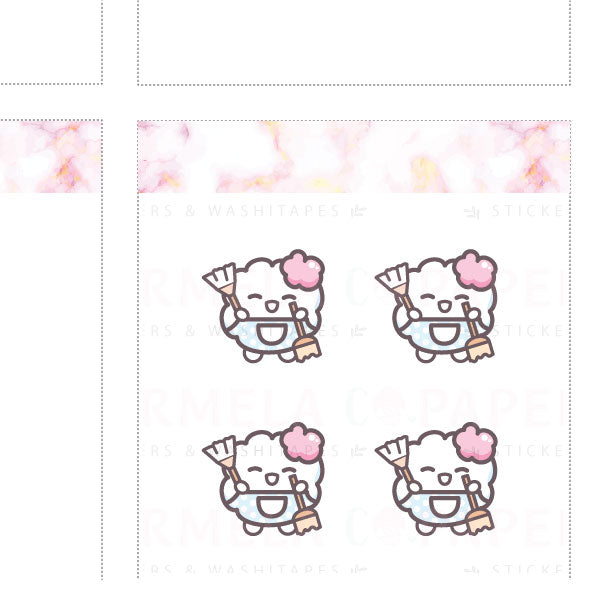 Cleaning ♡ Cotton Planner Stickers