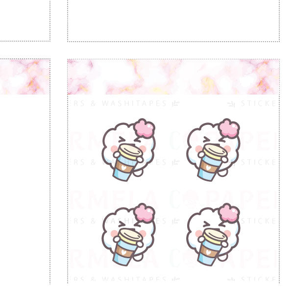 Coffee day ♡ Cotton Planner Stickers