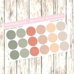 "Dainty 2019 Vol. 1, Mood Palette [Plain] - 0.5"" diameter, 2 sheets"