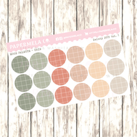 "Dainty 2019 Vol. 1, Mood Palette [Grid] - 0.5"" diameter, 2 sheets"