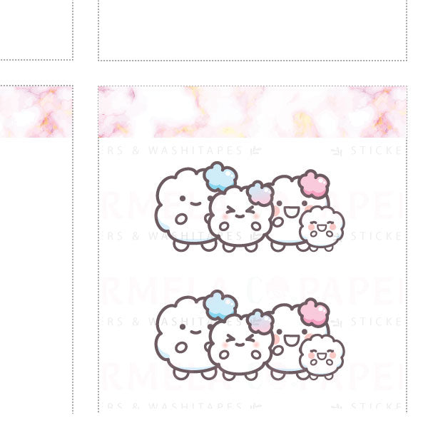 Family ♡ Cotton Planner Stickers