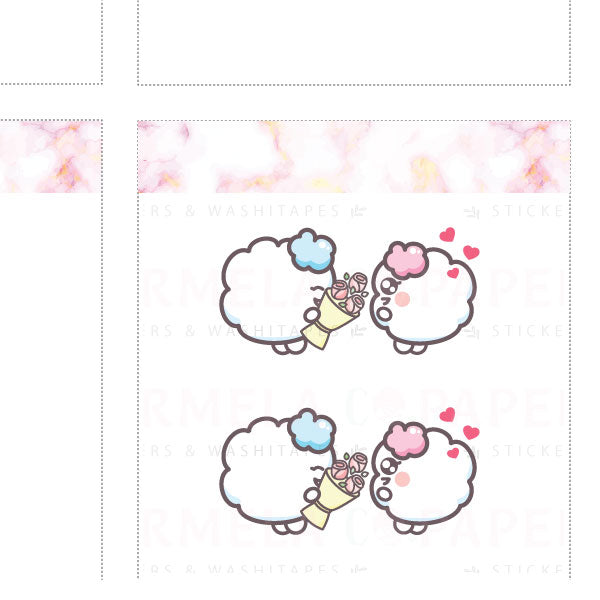 Flowers ♡ Cotton Planner Stickers