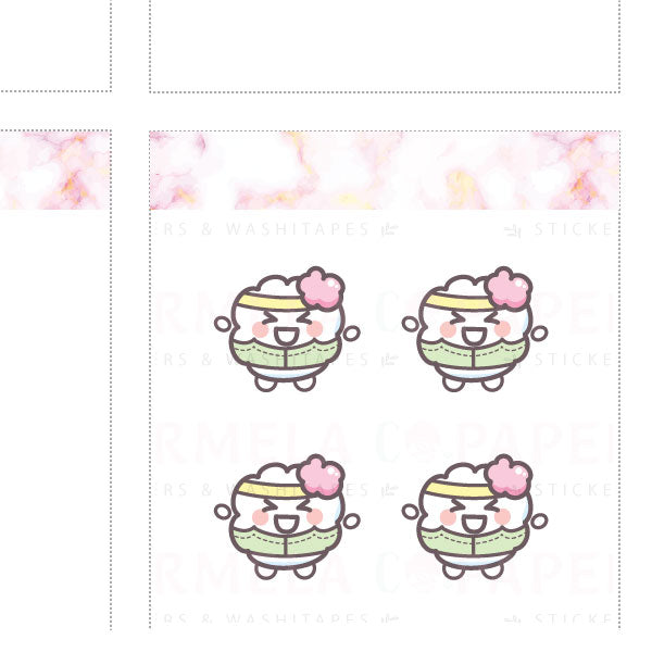 Get fit ♡ Cotton Planner Stickers